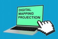 数字式地图投影概念 免版税库存图片