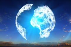数字式地球地球 免版税库存图片