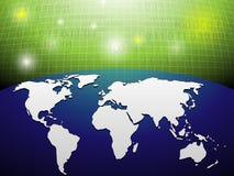 数字式地球背景 免版税库存照片