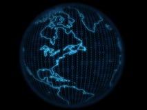 数字式地球 免版税库存图片