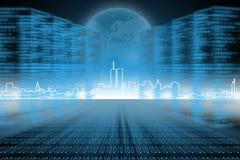 数字式城市 免版税图库摄影