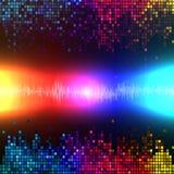 数字式声波五颜六色的抽象背景传染媒介 库存照片