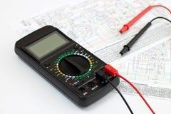 数字式多用电表 免版税库存图片