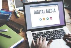 数字式媒介连接信息互联网概念 免版税图库摄影