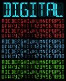 数字式字体 免版税库存图片