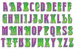 数字式字母表供人潮笑者样式Scrapbooking元素 图库摄影