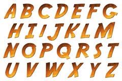 数字式字母表冒险样式Scrapbooking元素 免版税库存照片