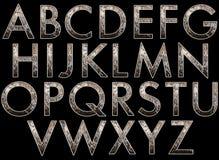 数字式字母表歌剧女主角样式Scrapbooking元素 向量例证