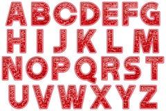 数字式字母表闪烁大门罩样式Scrapbooking元素 免版税库存图片