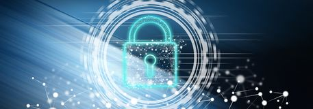 数字式安全的概念 皇族释放例证