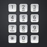 数字式安全锁或电话键盘传染媒介拨号盘  免版税库存照片