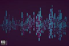 数字式平的音乐调平器 也corel凹道例证向量 库存照片