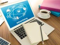 数字式广告技术 免版税图库摄影