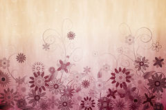 数字式引起的娘儿们花卉设计 库存照片