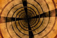 数字式引起的罗马数字时钟漩涡 免版税库存照片