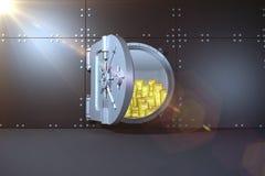 数字式引起的被打开的保险柜 免版税库存照片