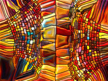 数字式彩色玻璃的形象化 免版税库存图片