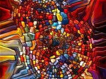 数字式彩色玻璃 库存照片