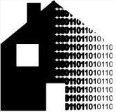 数字式房子 免版税库存图片