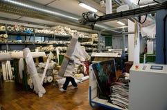 数字式打印纺织品 免版税图库摄影