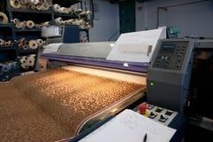 数字式打印纺织品 免版税库存图片