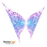 数字式技术蝴蝶 库存图片