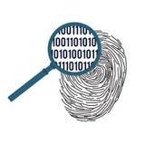 数字式指纹识别概念 皇族释放例证