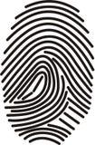 数字式指纹 库存照片