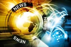 数字式新闻背景 免版税库存照片