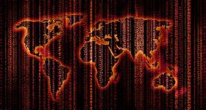 数字式映射世界 免版税库存照片
