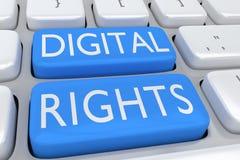 数字式权利概念 免版税库存照片