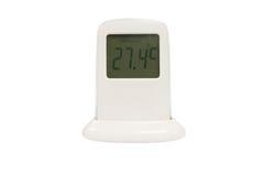 数字式查出的温度计 库存图片
