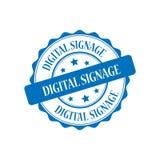 数字式标志邮票例证 库存图片