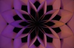 数字式桃红色抽象花 库存图片