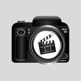 数字式照片照相机拍板影片别针 库存图片