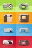 数字式照片照相机集合 免版税图库摄影