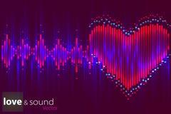数字式爱音乐调平器 也corel凹道例证向量 免版税库存照片