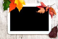数字式片剂黑色空的屏幕 免版税库存图片