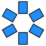 数字式片剂 免版税库存照片