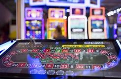 数字式现代轮盘赌桌显示器 库存图片