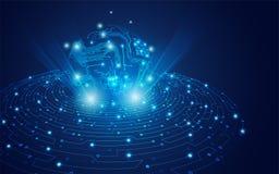 数字式电子全球性 免版税库存照片