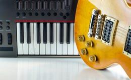 数字式电子音乐键盘,特写镜头 库存图片