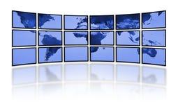 数字式电影镶板电视电视世界 库存例证