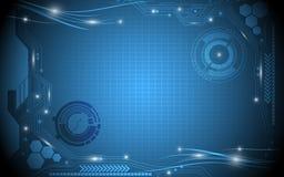 数字式电抽象背景 免版税库存照片