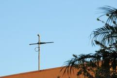 数字式电视天线在南佛罗里达 库存照片