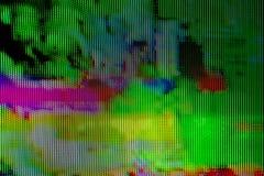数字式电视播送小故障 免版税库存图片
