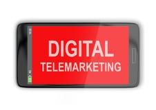 数字式电话推销概念 免版税库存照片
