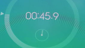 数字式秒表宏指令 向量例证