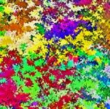 数字式绘画多色抽象飞溅声刷子油漆在生动的充满活力的五颜六色的淡色背景中 库存例证