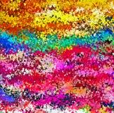 数字式绘画多色抽象飞溅声刷子油漆在生动的充满活力的五颜六色的淡色背景中 向量例证